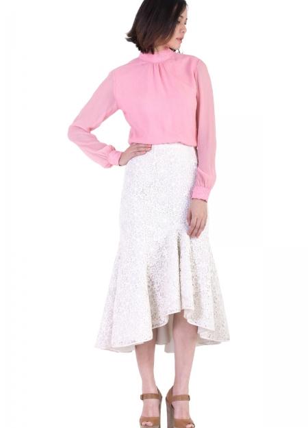 fb51e2b88d0aa White Ruffle Skirt